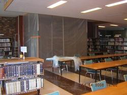 Construction de la nouvelle entrée de la bibliothèque de la Part-Dieu coté boulevard Vivier-Merle
