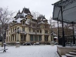 Le château Lumière sous la neige