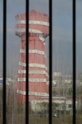 Le château d'eau vu depuis les locaux de l'Usine Tase à Vaulx-en-Velin