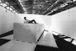 [1re Biennale d'art contemporain de Lyon (1991). Le savon de Marseille de Fabrice Hybert]