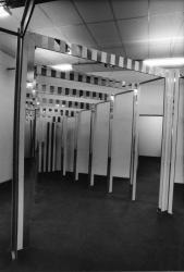 """[Nouveau Musée de Villeurbanne : exposition """"Situation I"""" de Daniel Buren]"""