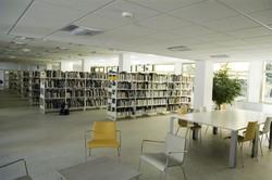 [Rayonnage adulte de la bibliothèque du 4e arrondissement rénovée]