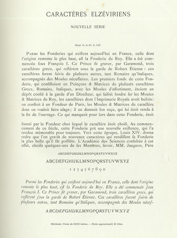 Elzévir Turlot. Exemple  n° 1