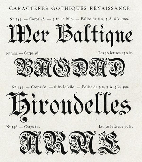 Gothiques Renaissance. Exemple  n° 1