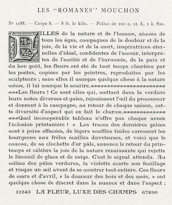 Romanes. Exemple  n° 1