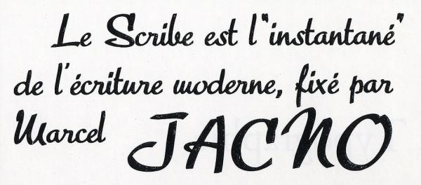 Scribe. Exemple  n° 1
