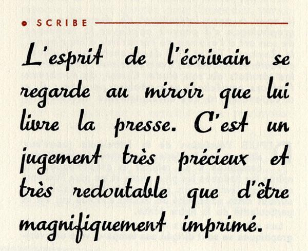 Scribe. Exemple  n° 2