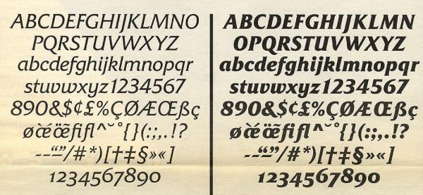 Friz Quadrata Italique. Exemple  n° 2