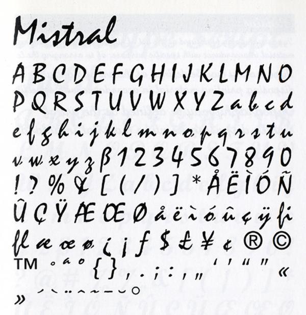Mistral. Exemple  n° 8