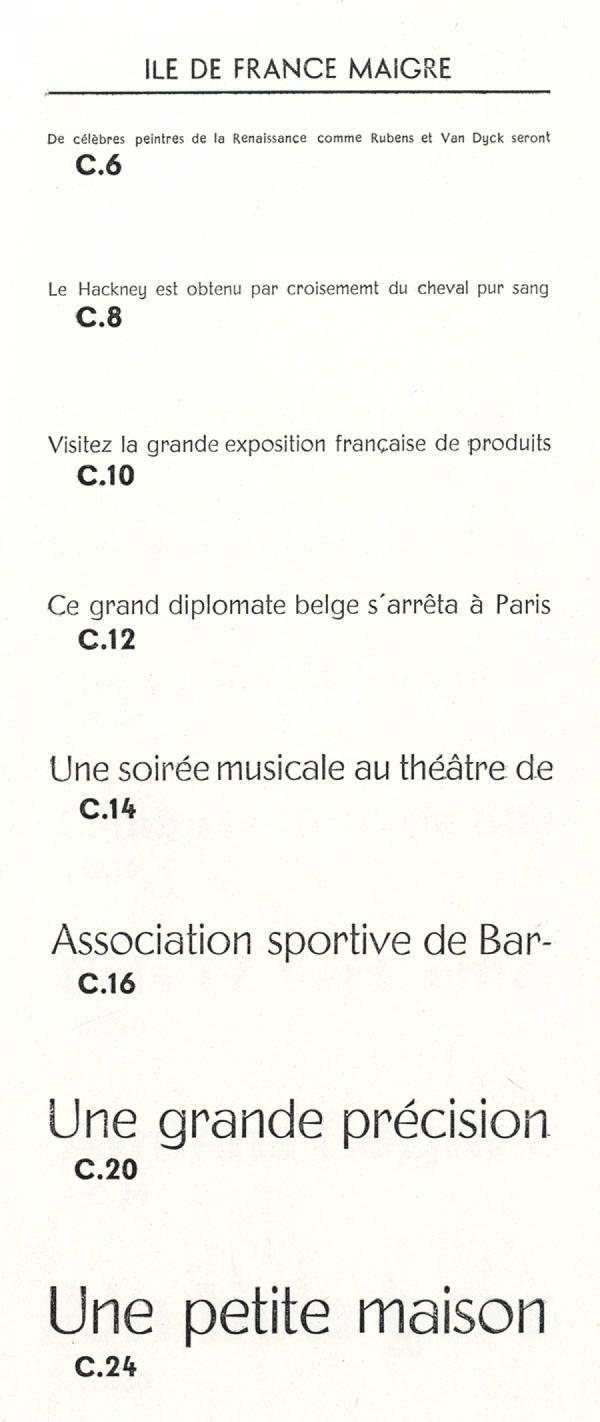 Ile de France. Exemple  n° 10