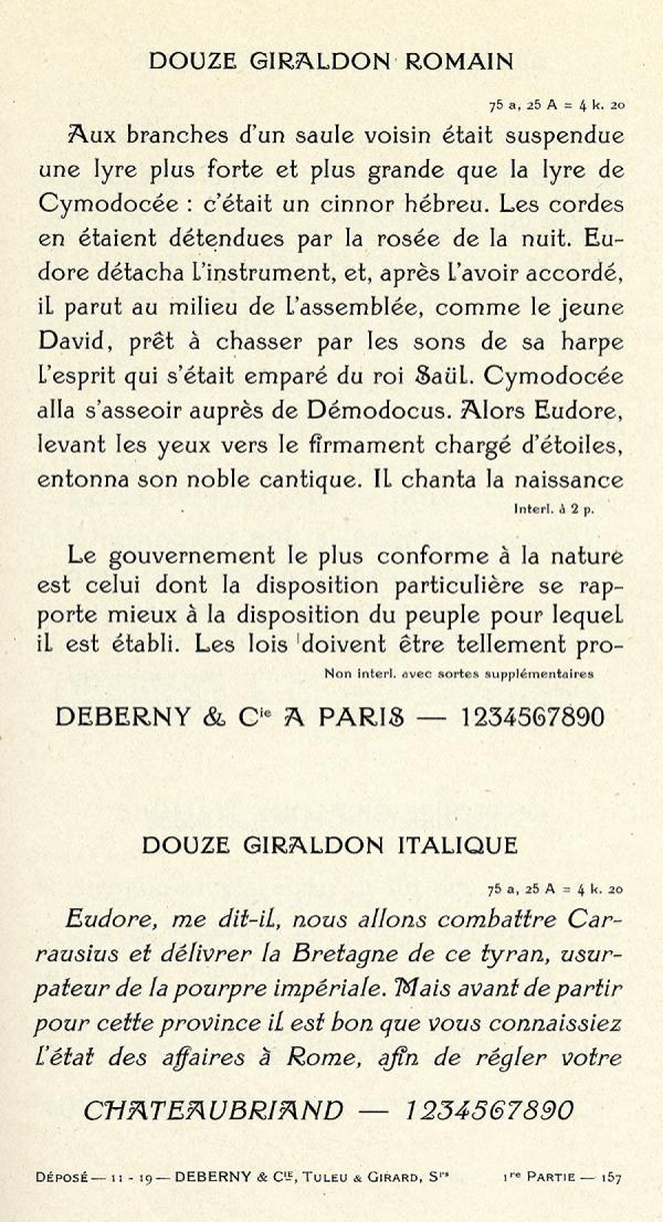 Giraldon. Exemple  n° 9