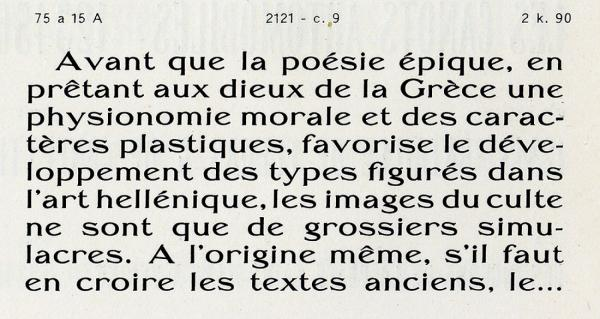 Bellery-Desfontaines. Exemple  n° 6