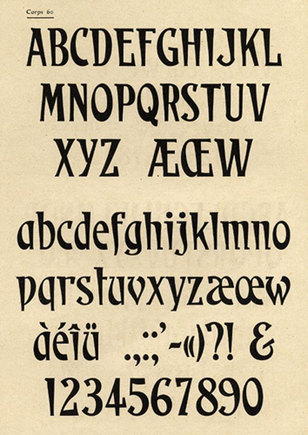 Caractères étiquettes. Exemple  n° 1