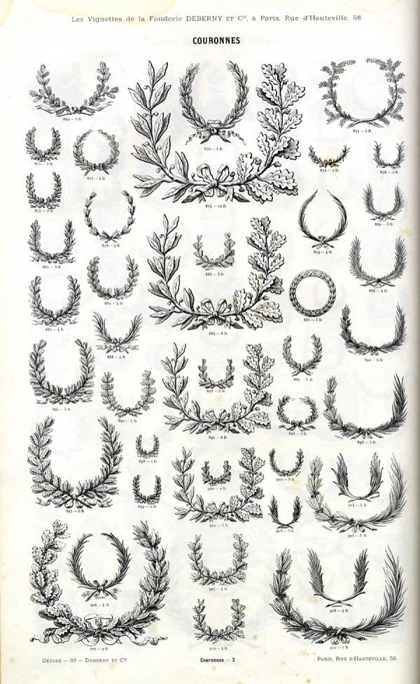 Lauriers et Médailles. Exemple  n° 1