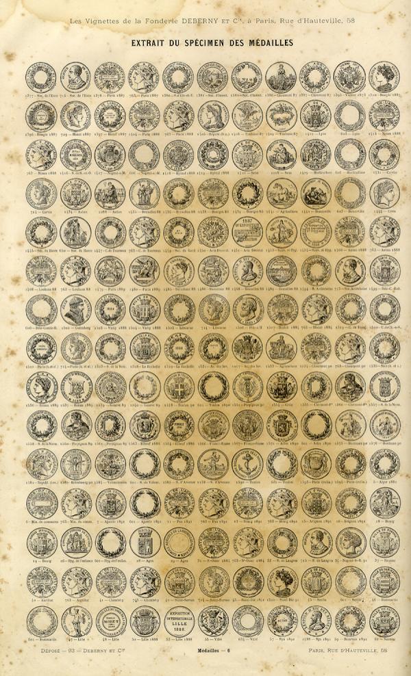 Lauriers et Médailles. Exemple  n° 2