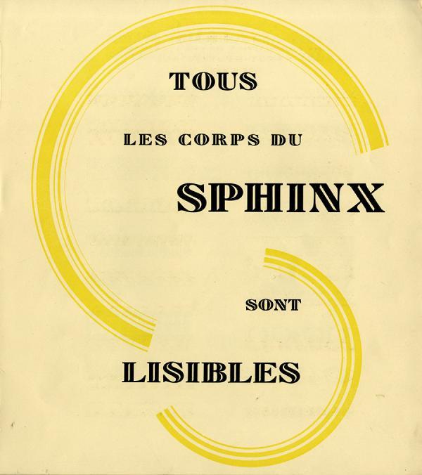 Sphinx. Exemple  n° 8