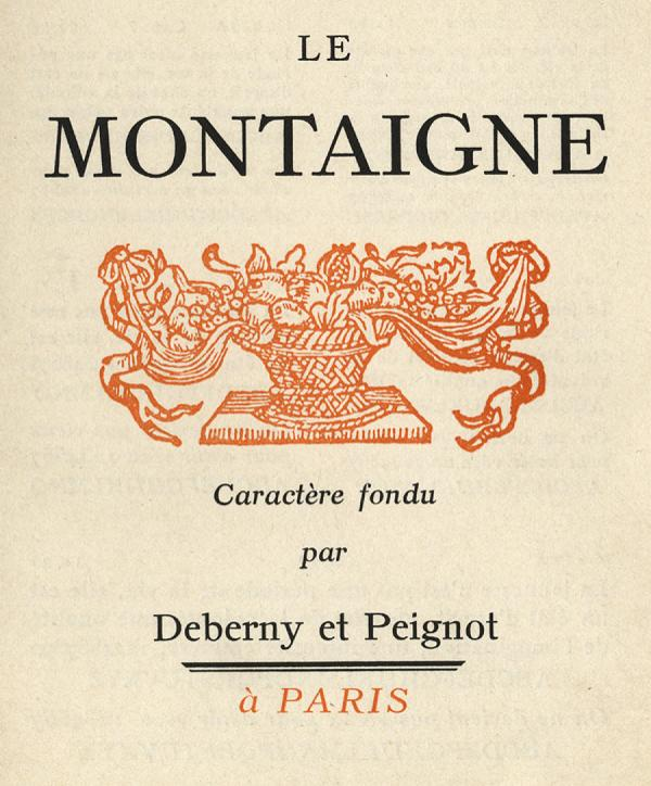 Montaigne. Exemple  n° 5