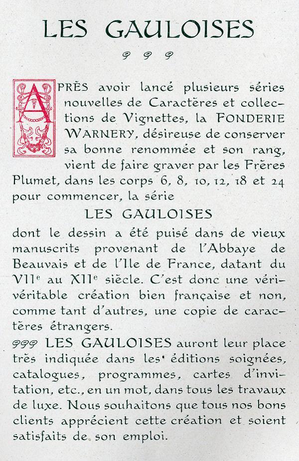 Gauloises. Exemple  n° 2