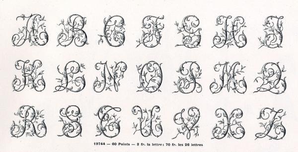 Initiales Deberny. Exemple  n° 3