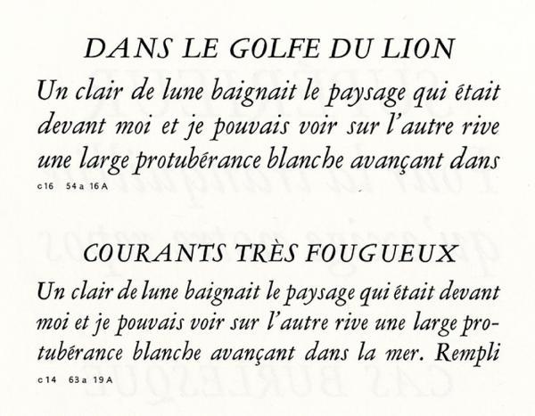 Garamond Peignot. Exemple  n° 4
