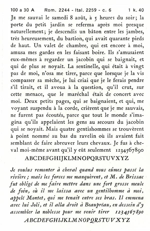 Garamond Peignot. Exemple  n° 8
