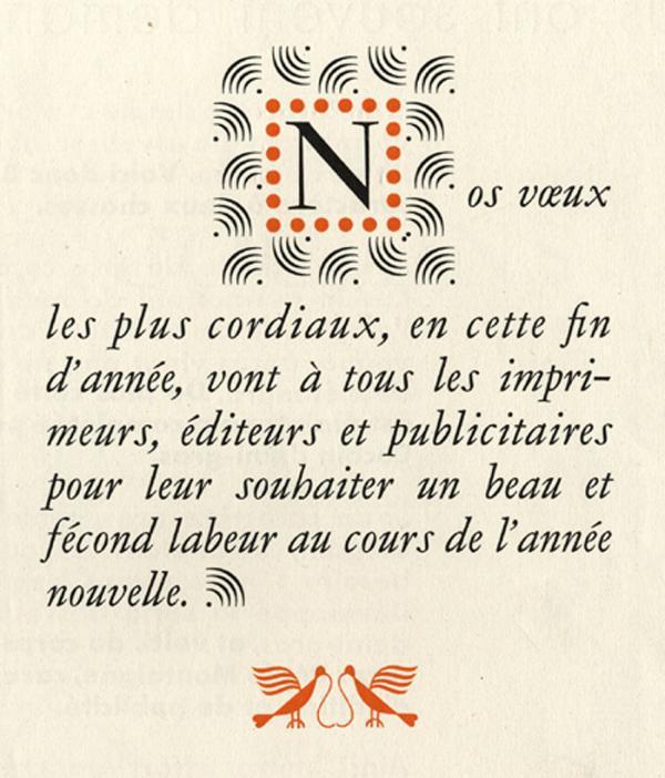 Garamond Peignot. Exemple  n° 10