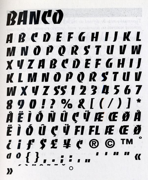 Banco. Exemple  n° 7