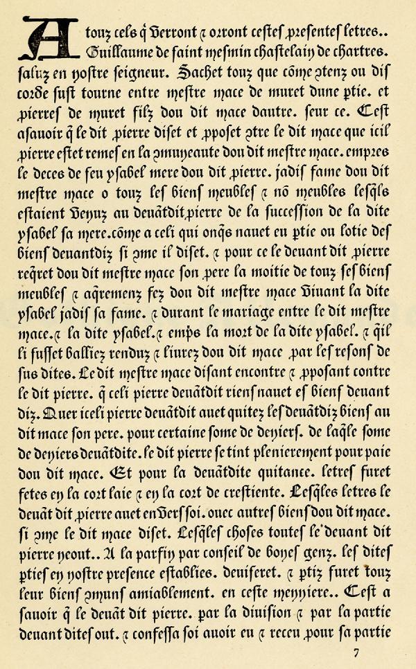 Gothique XVe siècle. Exemple  n° 1