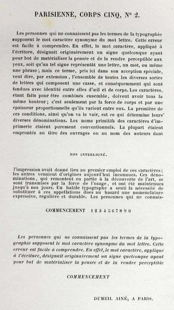 Parisienne. Exemple  n° 1