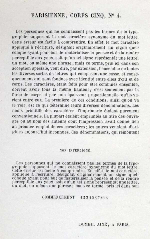 Parisienne. Exemple  n° 3