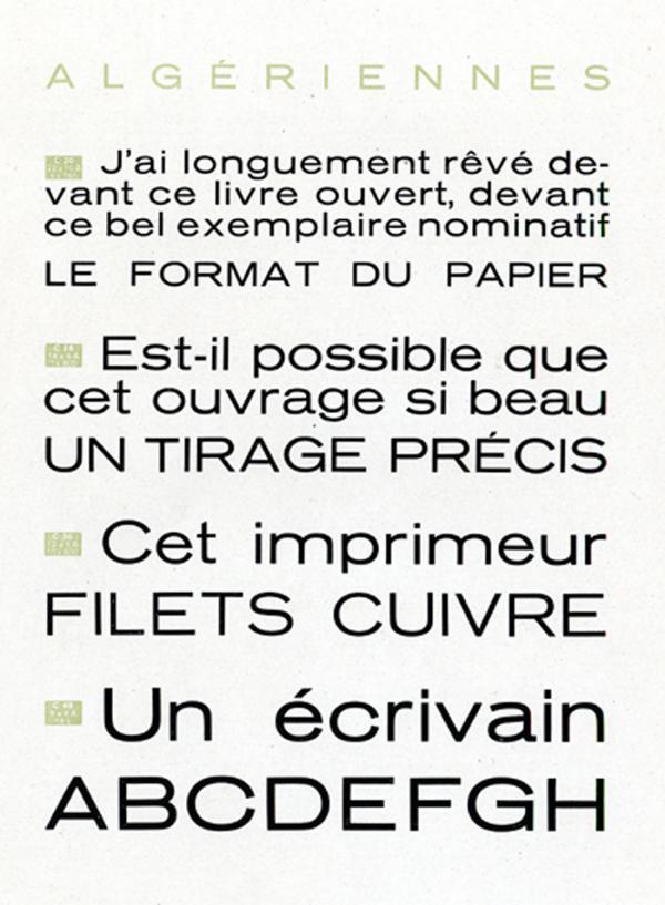 Algériennes. Exemple  n° 1