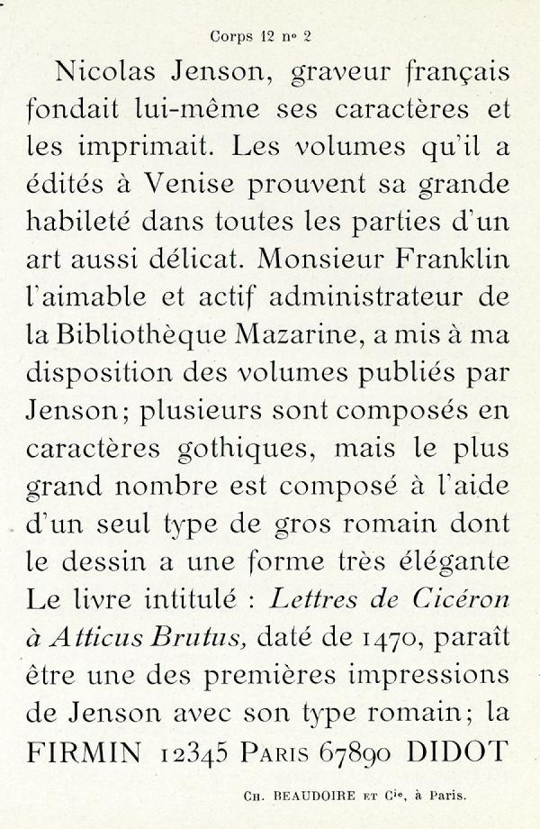 Elzévir Beaudoire. Exemple  n° 1