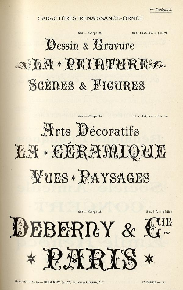 Renaissance Deberny. Exemple  n° 2