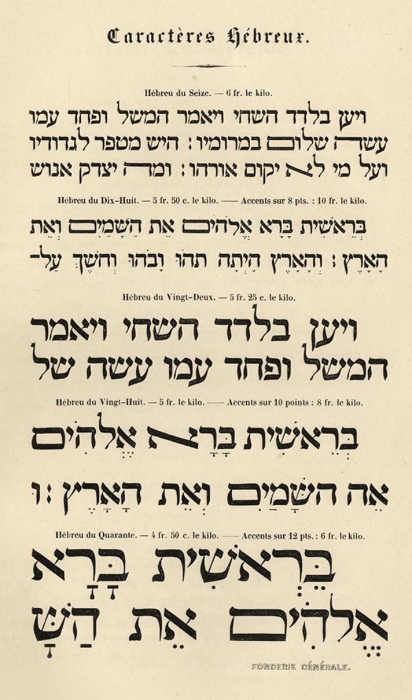 Hébreux. Exemple  n° 1