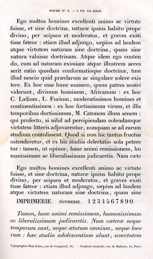 Labeurs Fonderie Générale. Exemple  n° 1