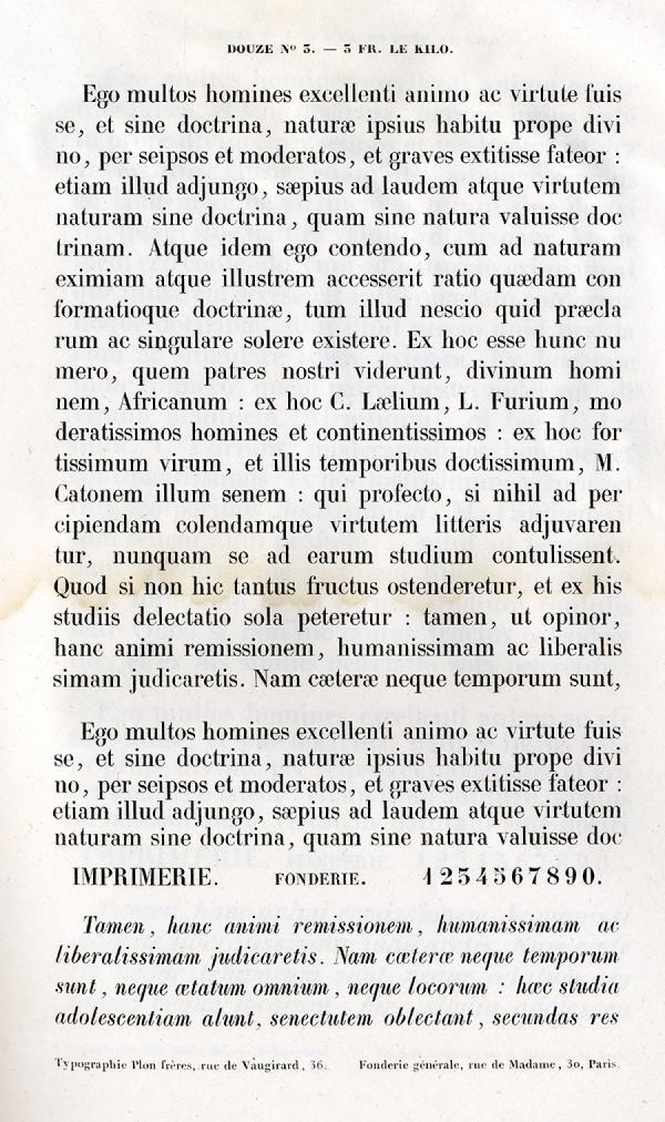 Labeurs Fonderie Générale. Exemple  n° 3