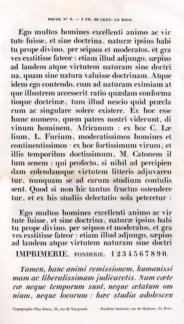 Labeurs Fonderie Générale. Exemple  n° 4