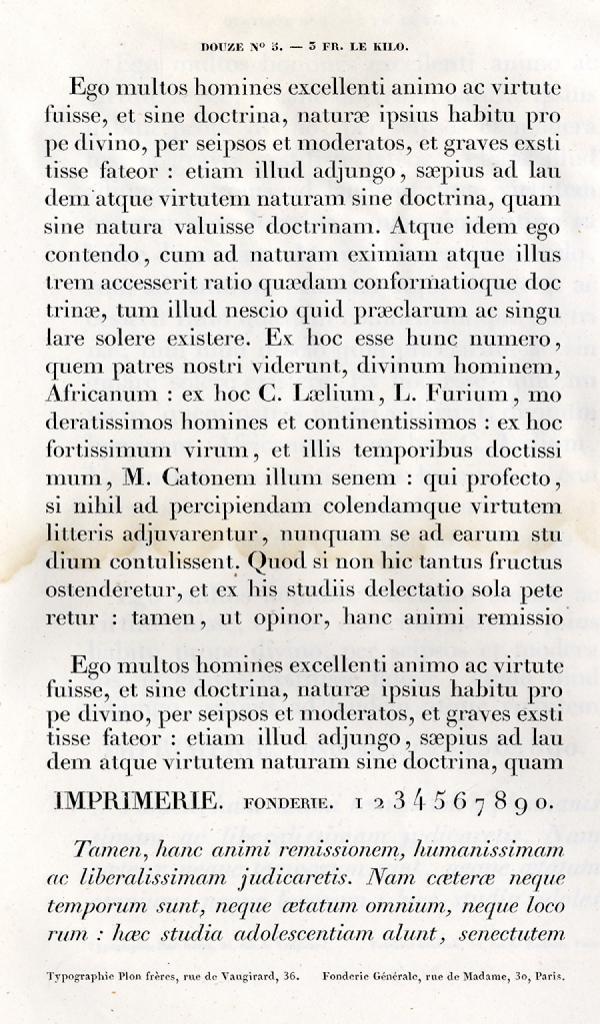 Labeurs Fonderie Générale. Exemple  n° 2