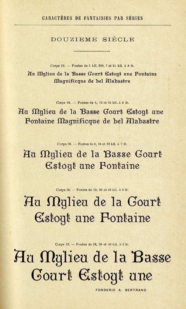 Douzième siècle. Exemple  n° 1