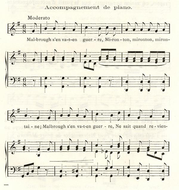 Musique Beaudoire. Exemple  n° 1