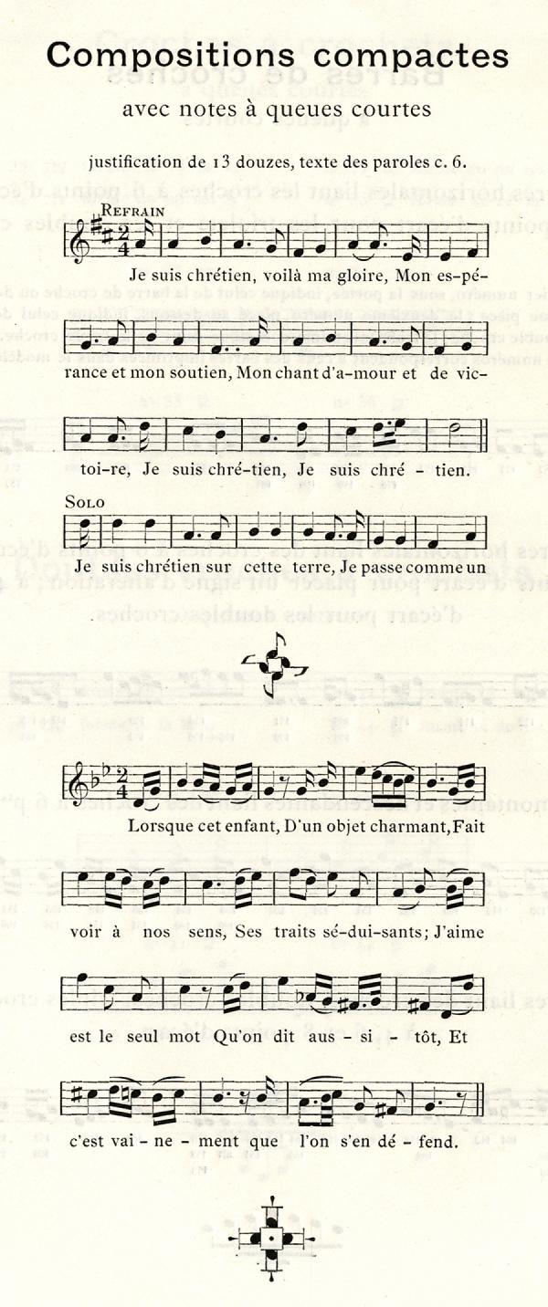 Musique Beaudoire. Exemple  n° 2