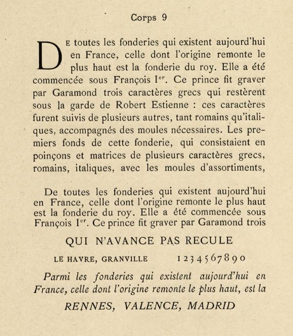 Elzévir français. Exemple  n° 3