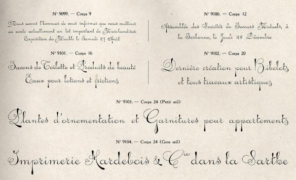Ecriture parisienne. Exemple  n° 1