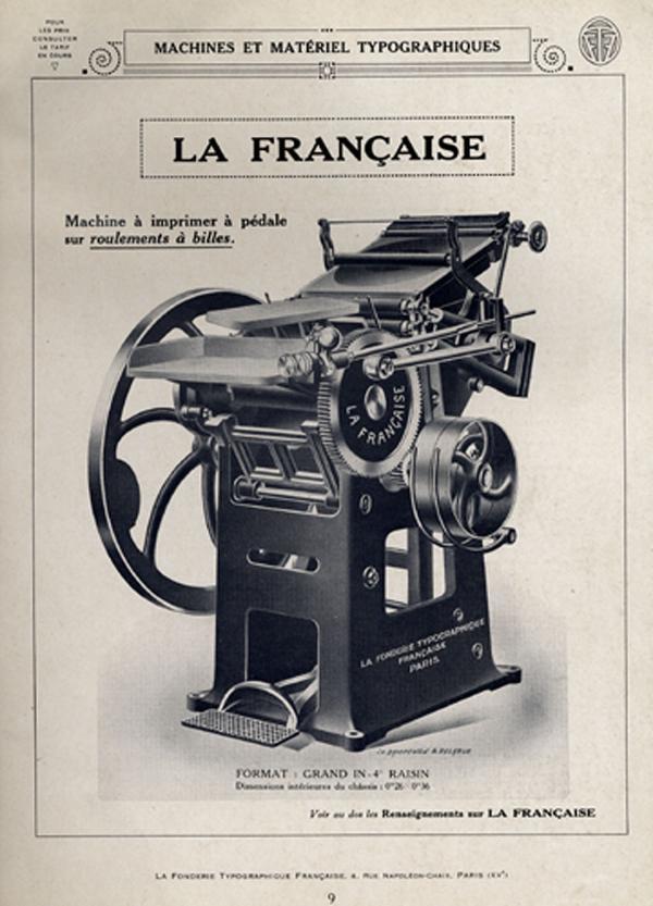 Matériel typographique. Exemple  n° 4