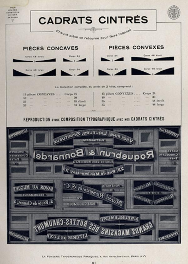 Matériel typographique. Exemple  n° 5