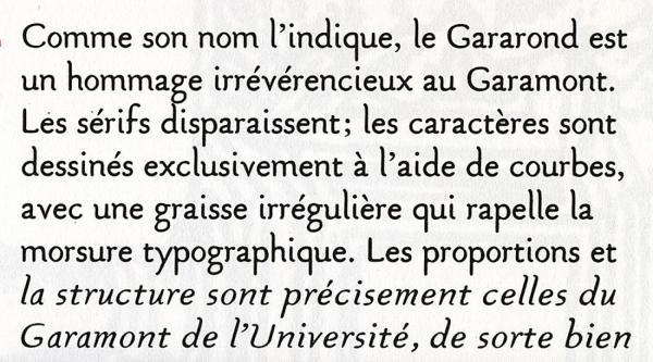 Gararond. Exemple  n° 2