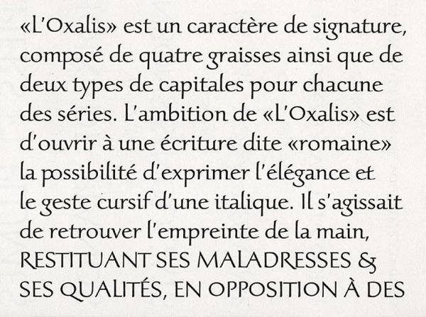 Oxalis. Exemple  n° 5