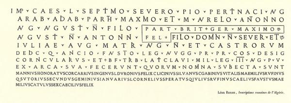 Latin Épigraphique. Exemple  n° 2