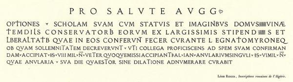 Latin Épigraphique. Exemple  n° 4