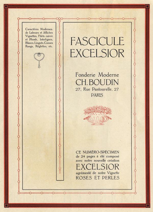 Excelsior Boudin. Exemple  n° 1